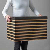 Коробка с крышкой IKEA ПИНГЛА, 56x37x36см