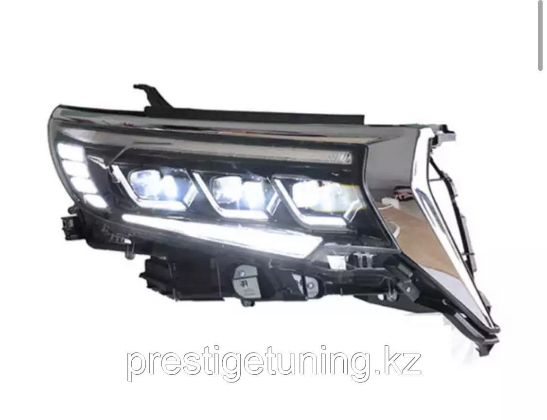 Альтернативная оптика на Land Cruiser Prado 2018-21 дизайн Lexus (вар.2)