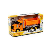 Профи, автомобиль-самосвал инерционный (со светом и звуком) (оранжевый) (в коробке) (86297)
