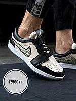 Кеды Nike Dior Jordan низ чер беж, фото 1