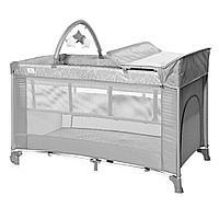 Кровать - манеж Torino 2 Plus, Grey (Bertoni/Lorelli, Болгария)