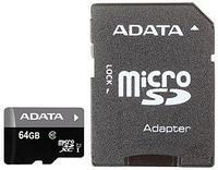 Карта памяти microSD 64Gb A-Data Premier class10, AUSDX64GUICL10-RA1