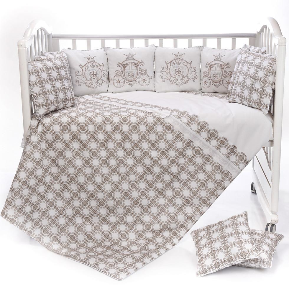 """Комплект для детской кроватки Patrino """"Десятое королевство"""" Р-6-526-4 4 предмета"""