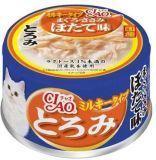 INABA 80г Тунец с гребешком и филе курицы в сливочном соусе Влажный корм для кошек