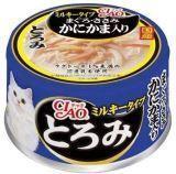 INABA 80г тунец с крабом и парным филе курицы в сливочном соусе влажный корм для кошек