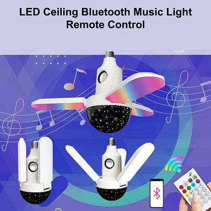 Светодиодная музыкальная лампа с дистанционным управлением через Bluetooth  динамик, фото 2