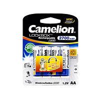 Батарейка аккумуляторная CAMELION AA, NH-AA2700LBP4, Lockbox Rechargeable, 1.2V, 4шт