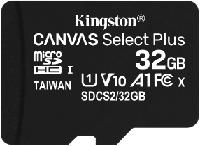 Карта памяти microSD 32Gb Kingston Canvas Select Plus, SDCS2/32GBSP, Class 10 UHS-I