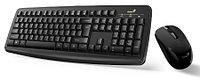 Комплект беспроводной клавиатура + мышь Genius Smart KM-8100, USB, Black