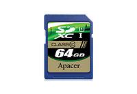 Карта памяти SD 64Gb Apacer Class10, SDXC, AP64GSDXC10-R