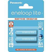 Батарейка аккумуляторная PANASONIC AA, BK-3LCCE/2BE, Eneloop Lite, 1.2V, 2шт