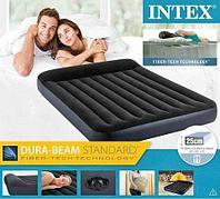 Матрас надувной с подголовником INTEX Pillow Rest Classic Airbed (64143, 152х203х25 см)