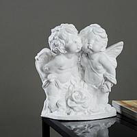 "Фигура ""Ангел и Фея с розой"" белый 12х26х24см"