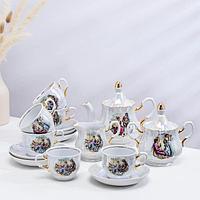 Сервиз чайный «Романс. Мадонна», 15 предметов: 6 чашек чайных 250 мл, 6 блюдец чайных d=15 см чайник 800 мл,