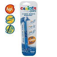 """Ручка гелевая автоматическая стираемая Carioca """"OOPS"""", узел 0,7 мм, чернила синие, резиновый держатель,"""