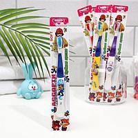 Детская зубная щётка «Ассорти»,двухкомпонентная ручка, мягкая щетина