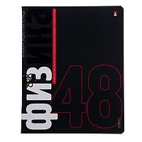 """Тетрадь предметная Elements, 48 листов в клетку """"Физика"""", обложка мелованный картон, матовая ламинация, блок"""