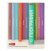 """Тетрадь предметная """"Библиотека знаний"""", 48 листов в клетку """"География"""", обложка мелованный картон, матовая"""