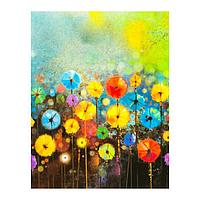 Роспись по холсту «Цветочки» по номерам с красками по 3 мл+ кисти+инстр+крепеж, 30 × 40 см