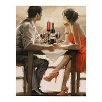 Роспись по холсту «Приятный вечер» по номерам с красками по 3 мл+ кисти+инстр+крепеж, 30 × 40 см