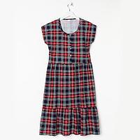 Платье женское Шанталь tartan, цвет красный, размер 48