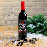 Набор для вина 'Keep calm' Сохраняй спокойствие