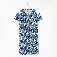 Платье женское, цвет синий, размер 46