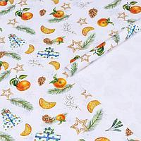 Бумага упаковочная глянцевая 'Новогоднее настроение', 70 х 100 см,1 лист