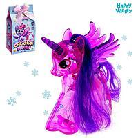 Игрушка-сюрприз 'Снежный пони' со светом и наклейками, цвета МИКС