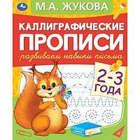 Каллиграфические прописи 'Развиваем навыки письма 2-3 года' М.А. Жукова