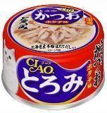 INABA 80г Гребешок с вырезкой японского тунца-бонито и филе курицы в бульоне влажный корм для кошек