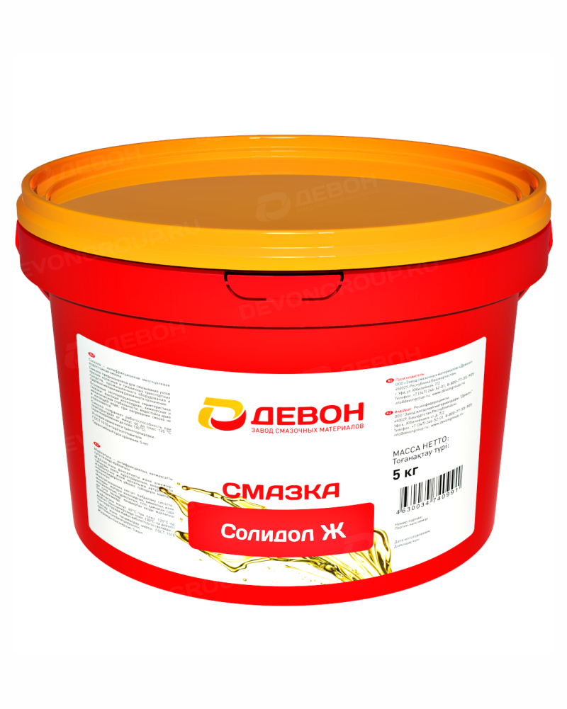 Смазка Девон Солидол Ж (9,5кг)