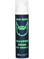 Крем для лица гиалуроновый 50мл NEON BEARD GREEN NEON с Омега 3,6 и примулой вечерней