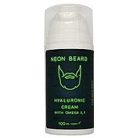 Крем для лица гиалуроновый 100мл NEON BEARD GREEN NEON с Омега 3,6 и примулой вечерней