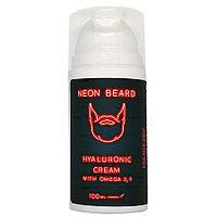 Крем для лица гиалуроновый 100мл NEON BEARD RED NEON с Омега 3,6 и примулой вечерней