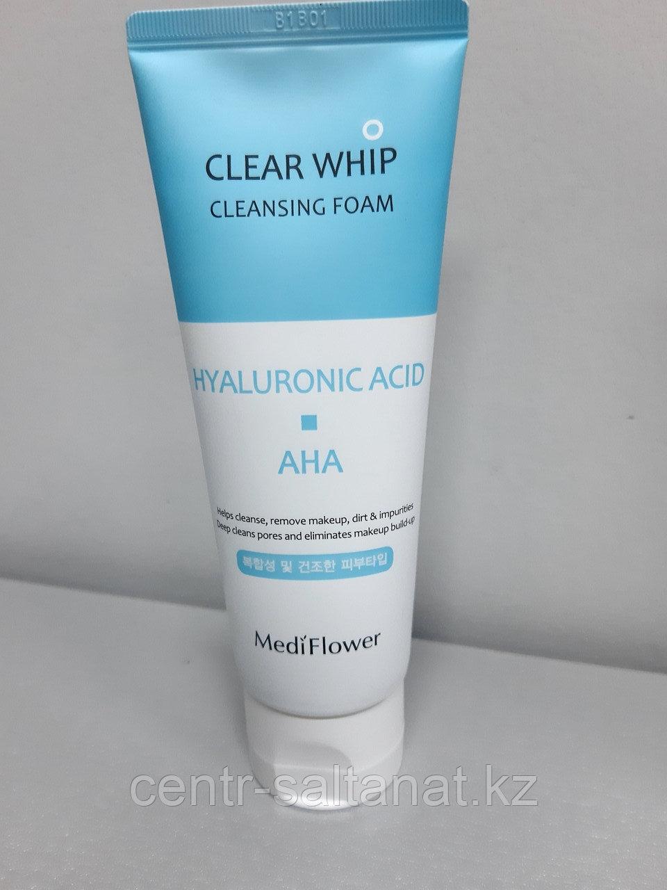 Пенка для умывания Hyaluronic acid&АНА Clear Whip Cleansing Foam 120 мл