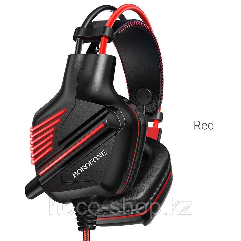 Наушники проводные игровые BO101 Borofone с всенаправленным микрофоном, красные