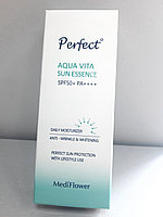 Солнцезащитная эссенция Medi Flower Perfect Aqua Vita Sun Essence SPF 50+ PA++++ 50 мл