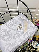 Жаккардовое полуторное одеяло из шелка и бамбука с растительными узорами