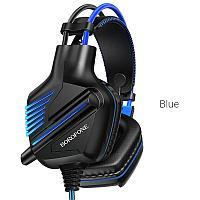 Наушники проводные игровые BO101 Borofone с всенаправленным микрофоном, синие
