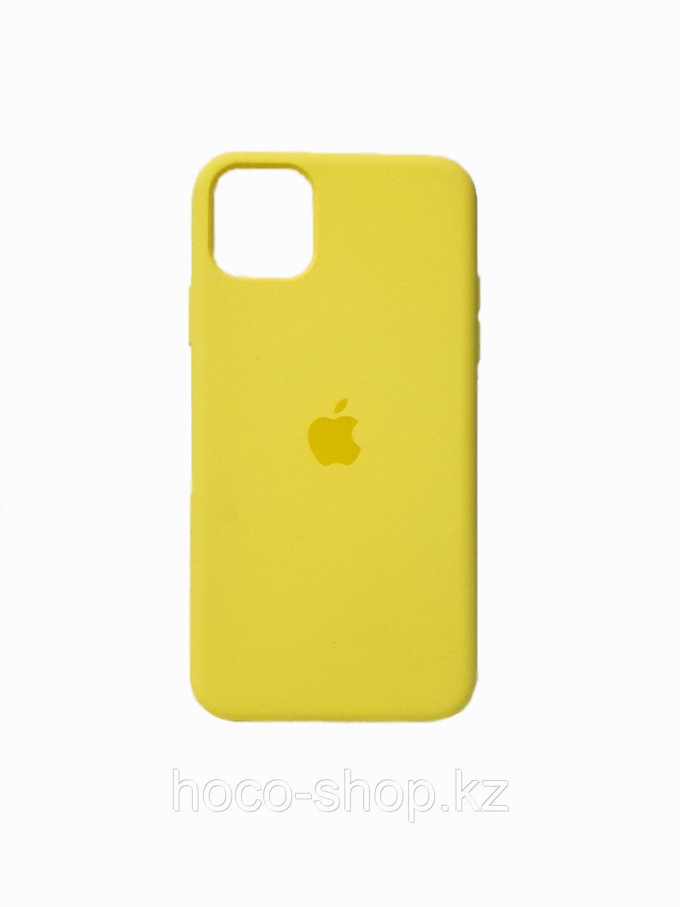 Защитный чехол для iPhone 11 Pro Max Soft Touch силиконовый, желтый