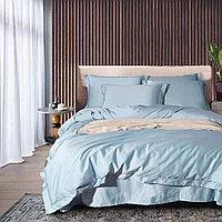 Комплект сатинового постельного белья king-size двуспальный однотонный