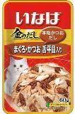 INABA 60г Тихоокеанский палтус с японским тунцом-бонито влажный корм для кошек