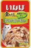 INABA 60г желтоперый тунец и японский тунец-бонито с семгой влажный корм для кошек