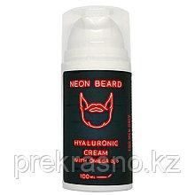 Крем для лица мужской гиалуроновый 100мл NEON BEARD RED NEON с Омега 3,6 и примулой вечерней