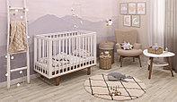 Детская кроватка Simple 340, белый- дуб (Polini kids, Россия)