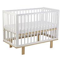 Детская кроватка Simple 340, белый-натуральный (Polini kids, Россия)