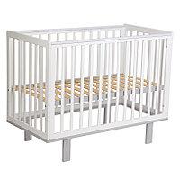 Детская кроватка Simple 340, белый-серый (Polini kids, Россия)