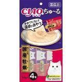 INABA  4 шт. по 14г пюре желтоперый тунец+устрицы Соус-лакомство для кошек