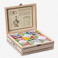 Подарочный набор Сугревъ в деревянной коробке, коллекция из 9 чаёв, разные цвета, , 90003